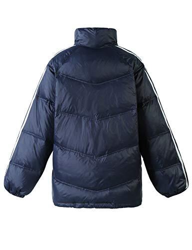 Orlo Riflettente Piumini Oversize Colour Giacche Collo Invernali Blu Elf Sack Donna Blocking Regolabile Cerniera Alto Capispalla 7qwBOnfT