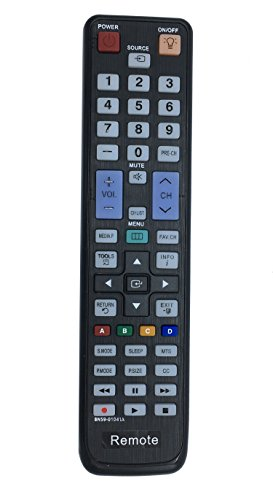 Vinabty New Replaced Remote BN59-01041A fits for SAMSUNG HDTV UN40C5000QF LN32C550J1F LN37C550J1F LN40C610N1F LN40C630K1F LN60C630K1FXZA PL50C550 PL50C550G1F LN46D630M3FXZA LN46D630M3FXZC and more