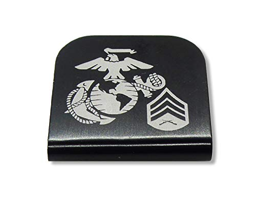 Morale Tags USMC EGA SGT E-5 for Your Hat! Clips Right On! Sergeant (Black)