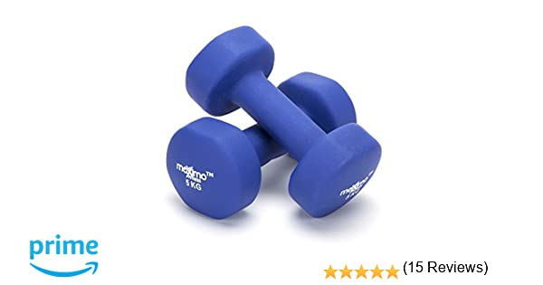 Maximo Fitness Mancuernas de Neopreno (Par) - Pesas de Mano Desarrollo de Fuerza, Tonificación Muscular, Gimnasia en Casa y Rehabilitación - Ideal para ...