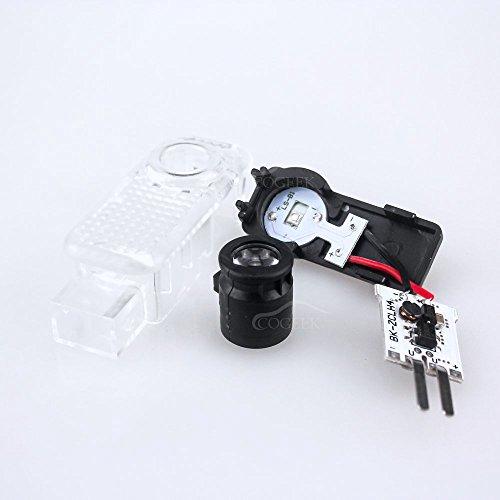 COGEEK 2 PCS Logo Laser Projector Door Under Puddle Lights For A4 A3 A6 Q7 Q5 A1 A5 80 TT A8 Q3 A7 R8 RS