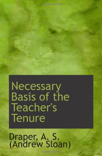 Download Necessary Basis of the Teacher's Tenure ebook