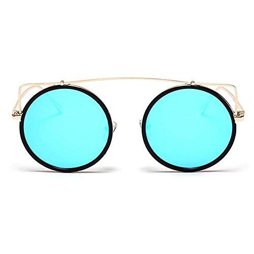 Yeux Couleur Lunettes de Forme Voyage Style air lentille Plein C7 C5 de de Chat UV Soleil UV Gu Peggy Rétro Colorée Rond en Conduite 1Aq7w7