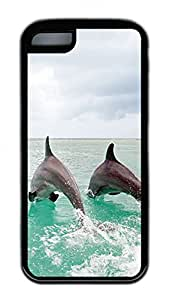 Distinct Waterproof Two Dolphins Design Your Own iPhone 5c Case