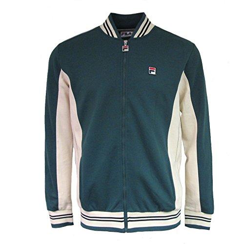 Mens Vintage Track Jacket - Fila Mens Settanta LM161RN1 Track Jacket in Poly June Bug Green Medium
