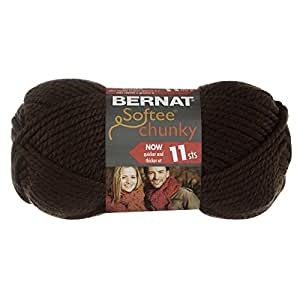 Bernat Softee Chunky Yarn, Dark Taupe, Single Ball