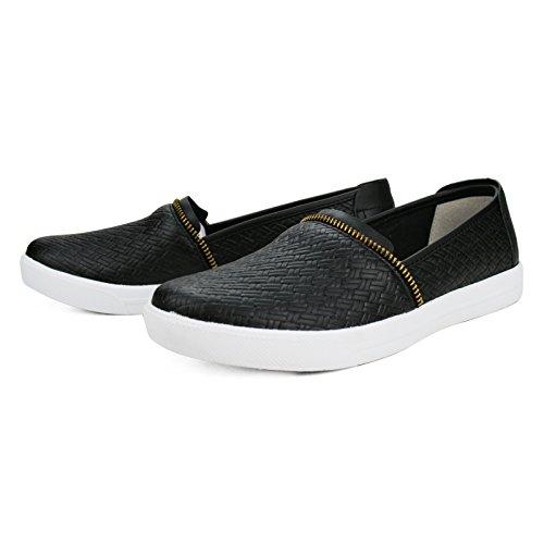Burnetie Women's Black Carmen Slip-on Sneaker 8 M US