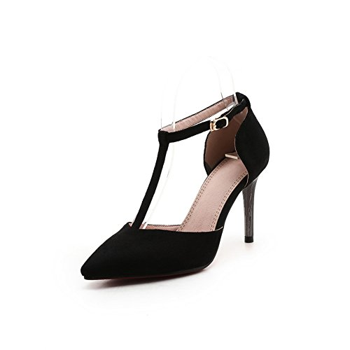 Mjs03121 Style À Noir Pointu Baguette Bout De Femmes Mode Sandales Uréthane 1to9 De 4RCxPwqWRE