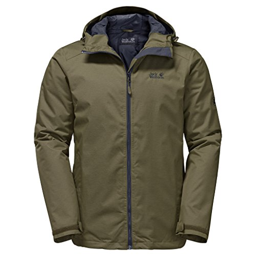Jack Wolfskin Men's Northern Sky Jacket, Burnt Olive, X-Large