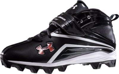 Under Armour New Crusher 2 Football Cleat Mens Size 7.5 Black/White/Green Laces