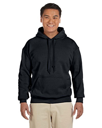 Gildan Mens Heavy Blend 8 oz. 50/50 Hood(G185)-Black-XL