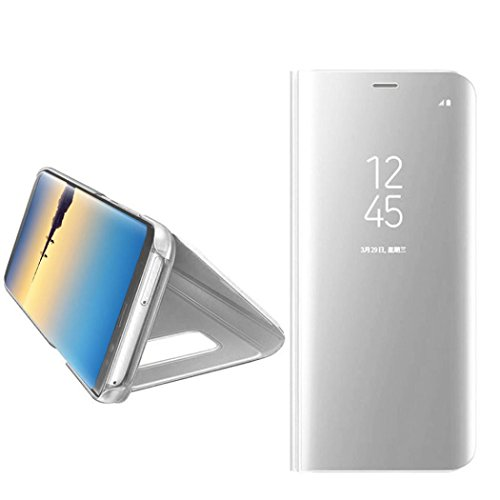 Price comparison product image For Samsung Galaxy Note 8,  Iusun Ultra Thin Window Sleep Wake UP Flip Leather Case Stand Holder Cover For Samsung Galaxy Note 8 (Silver,  Samsung Galaxy Note 8)