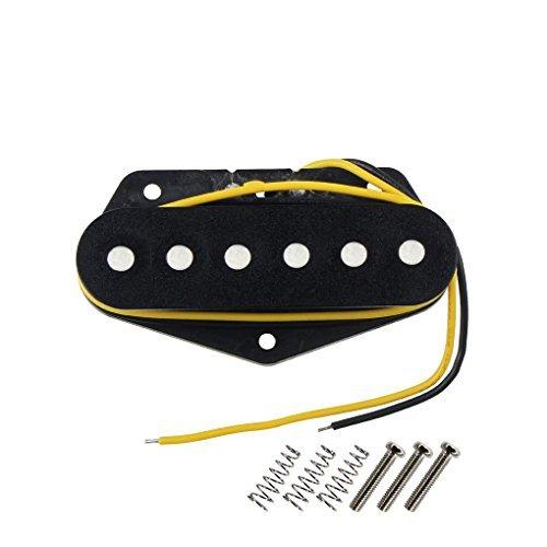 FLEOR Tele Pickups Alnico 5 Black Tele Bridge Pickup Fit Fender Telecaster Bridge Pickup Part
