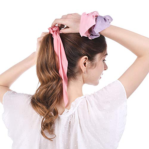 ribbon ponytail elastic bow RTS!! Vintage scrunchy scrunchy hair hair holder hair ties