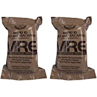 TWO (2) NEW MRE's 2020 - 2021 1st Insp. date - US Military Meals Ready-to-Eat w/FREE DESSERT! (Two 10's - Chili & Macaroni)