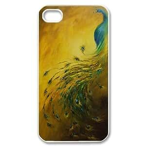 LTTcase Custom peacock Phone Case for iphone 4,4s
