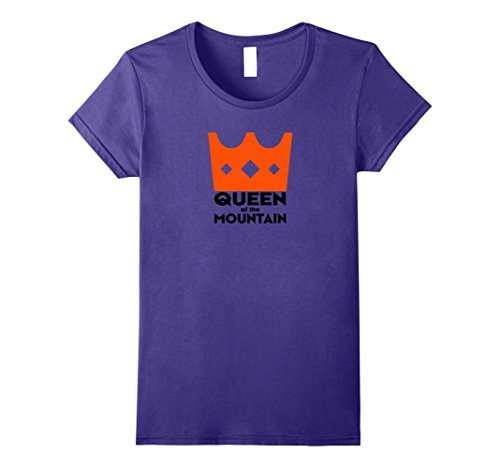 Womens Cool Queen Of The Mountain Cycling T Shirt Small Purple