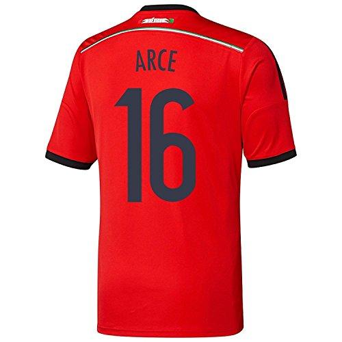 有効なキロメートル見る人Adidas ARCE #16 Mexico Away Jersey World Cup 2014 YOUTH./サッカーユニフォーム メキシコ アウェイ用 ワールドカップ2014 背番号16 アルセ ジュニア向け