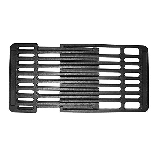 UNICOOK Porcelain Cast Iron Grill Grate for Gas Grill, Barbecue Cooking Grid Replacement, Adjustable Depth from 14'' to 20'' Front to Back, 8'' Width, Fits Most Gas Grill ()