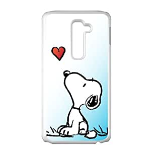 Snoopy 001 LG G2 Cell Phone Case White TPU Phone Case RV_660815
