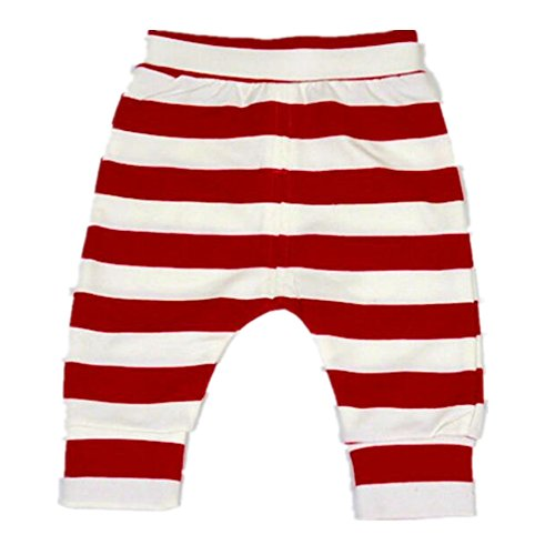 Ding-dong Baby Boys Girls Striped Pants(Red, 12-18M) (Any Day Chino Pants)