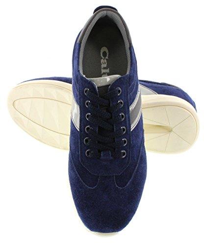 calto–A3619–7,1cm Grande Taille–Hauteur Augmenter Chaussures ascenseur–Bleu Royal Casual Chaussures