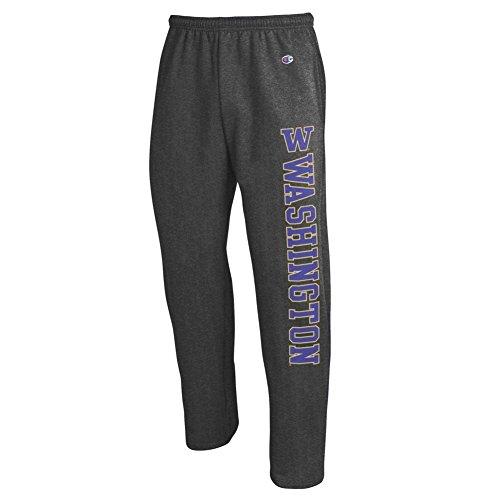 ngton Huskies Sweatpants Pockets Charcoal - XXL ()