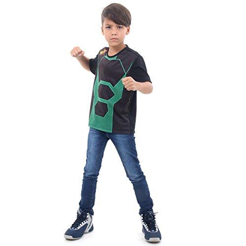 Camiseta Nerf Luxo Infantil Sulamericana Fantasias Preto/Verde M 6/8 Anos