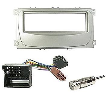 Kit de montaje marco para radio adaptador autorradio 1 DIN FORD Mondeo / Focus / S-Max / galaxy: Amazon.es: Electrónica