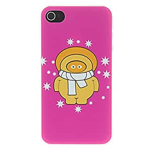 LCJ Lovely Cartoon with Stars Around Pattern Matte Designed PC Hard Case for iPhone 4/4S