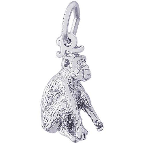 14k Gold Monkey Charm - Rembrandt Charms Monkey Charm, 14K White Gold