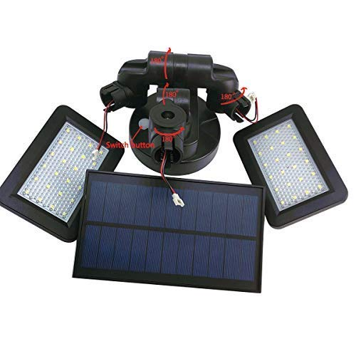 JEERUI Solar Lights Outdoor Solar Sensor Lights Solar Panel Light IP65 Waterproof Motion Sensor Wall Light 48 LED Sensor Spotlight Auto On//Off for Garden Driveway Pathway Yard with 2 LED Panels