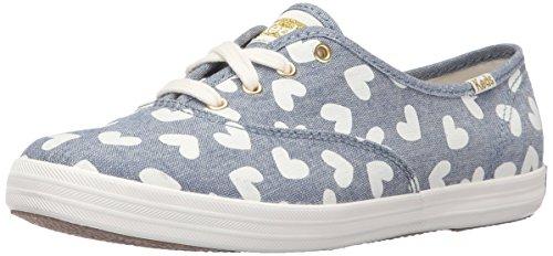 Keds Shoes Canvas - Keds Women's Champion Heart Fashion Sneaker, Blue, 8.5 M US