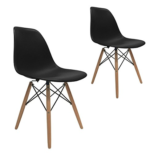 apontus dining room chair eames style accent natural wood eiffel legs