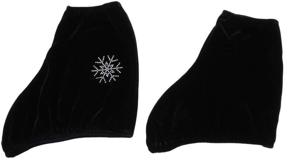 LCFF /Überziehschuhe Spender 2ST Schuh /Überschuh Art und Weise EIS-Zahl Rollschuh Stiefel Schuhe Abdeckung Schutz-Werkzeug mit Elk Snowflake Tornado Bild Color : Black L