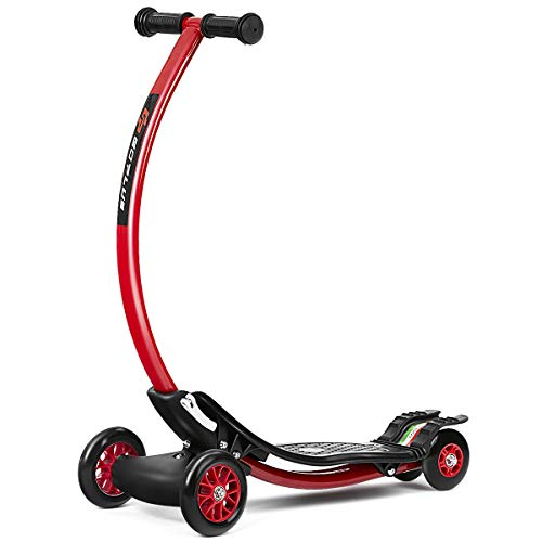 Goplus Kick Scooter for Children w 3 Durable PU Wheels Kids Scooter