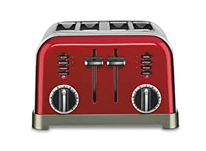 Cuisinart CPT-180MR Metal Classic 4-Slice Toaster, Metallic Red