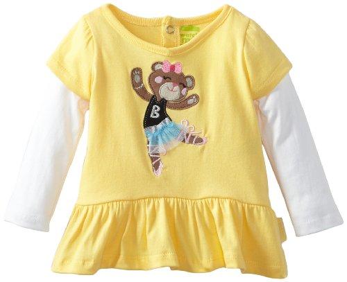 Yellow Dancing Bear (Watch Me Grow! by Sesame Street Baby-girls Newborn 2 Piece Dancing Bear Dress and Pant, Yellow, 3-6 Months)