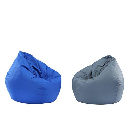 Animal Bean Bag Set - LOVIVER Set of 2 Stuffed Animal Storage Bean Bag Chair for Kids - Waterproof Oxford Cloth - 6065cm - Royal Blue & Gray
