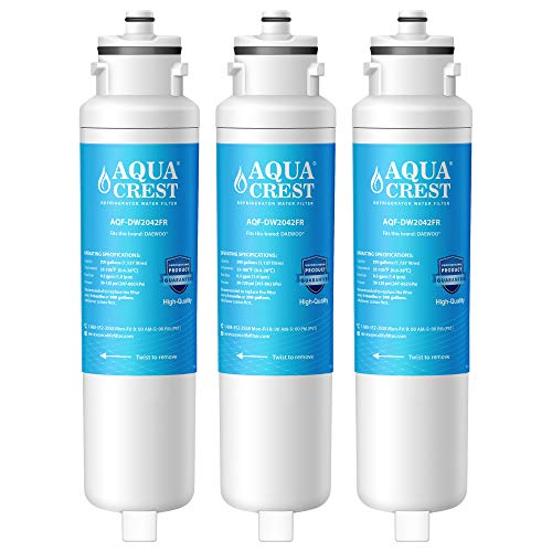 AQUACREST DW2042FR-09 Refrigerator Water Filter, Compatible with Daewoo DW2042FR, Kenmore 46-9130, DW2042FR-09, Aqua Crystal DW2042F-09 (Pack of 3) (Daewoo Refrigerator Water Filter)
