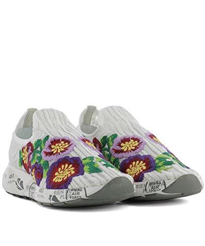 Premiata Donna Bianco Jane3127 Sneakers Tessuto qxXxHAn