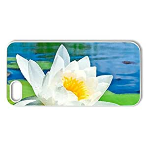 White lily - Case Cover for iPhone 5 and 5S (Flowers Series, Watercolor style, White)