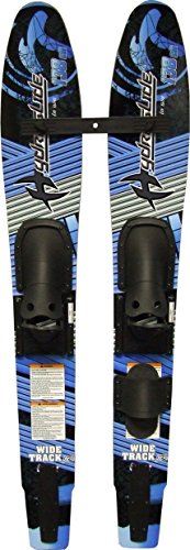 - Hydroslide Junior Wide Track Intermediate Water Skis Combo Pair, Black, 54-Inch