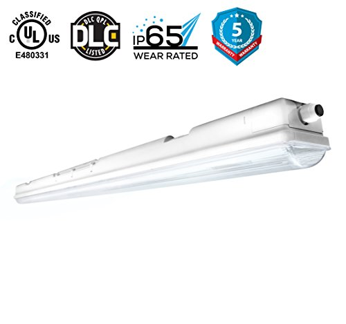 Hyperikon Vapor LED Fixture, 40W (100W Eq), 3800 lumen, 4000K (Daylight White), UL& DLC 4.2 Qualified, Clear Cover, Waterproof, IP65, 120-277v, Instant On