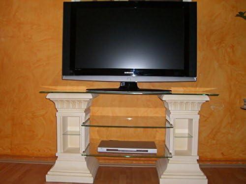 Salón Antiguo Diseño Muebles Grecia TV Estantería TV Rack Televisión Columna de Mesa Estante estantería Piedra Muebles Estantería Altura: 67 cm Beige: Amazon.es: Juguetes y juegos