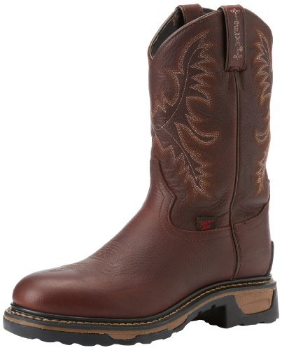 Cowgirl Lama Tony Boots - Tony Lama Men's Waterproof Steel Toe TW1009 Work Boot,Briar Pitstop,10 D US