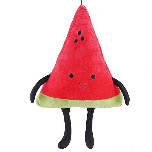 Meanhoo 21.6inch Super Cute Red Color Watermelon Model Plush Toy, Stuffed Doll Cartoon Fruit Plush Toy Baby Pillow for Children Boys and Girls