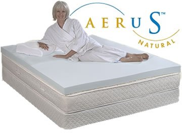 Aerus 3 Inch 4 Pound Density Memory Foam Mattress Pad Top...