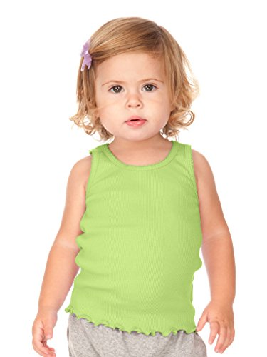 Kavio! Infants Scalloped Beater Tank Lime