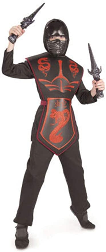 RED COBRA DRAGON NINJA FANCY DRESS COSTUME